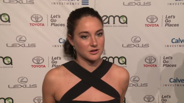 interview shailene woodley on what it means to be receiving this honor from ema what inspired her to become an environmental activist and what... - environmental media awards stock videos & royalty-free footage