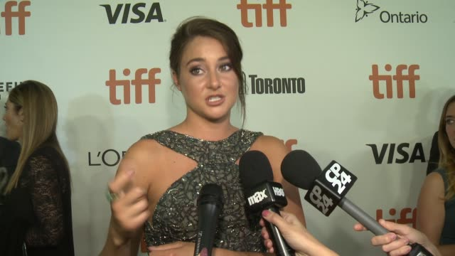 shailene woodley on why this is such an important story to tell, how she would describe snowden and how she prepared for the role at roy thomson hall... - toronto international film festival stock videos & royalty-free footage