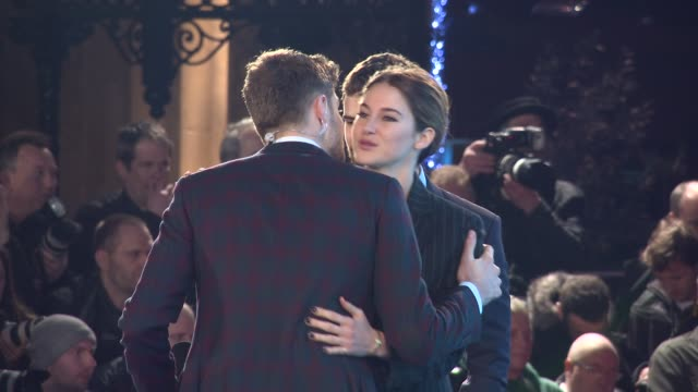 BROLL Shailene Woodley Theo James at 'Insurgent' World Premiere on March 11 2015 in London England