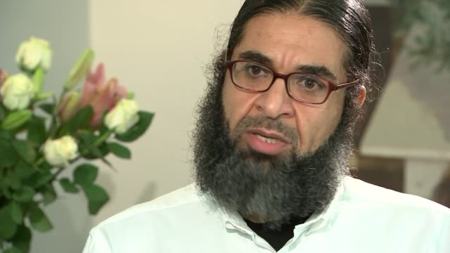 london int shaker aamer interview sot guantanamo is being built on how to destroy a human being totally how to damage him mentally physically... - shaker aamer stock videos & royalty-free footage