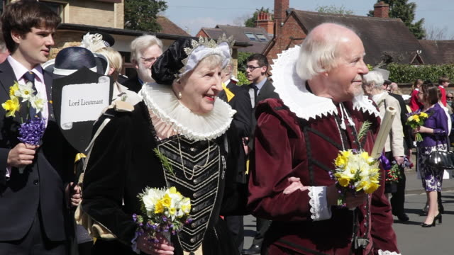 shakespeare birthday parade - british culture stock videos & royalty-free footage