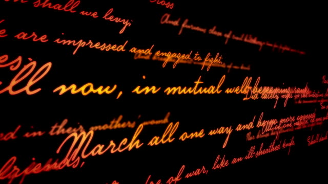 shakespeare poetry background - letter stock videos & royalty-free footage