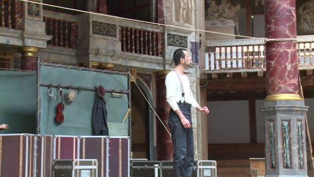 shakespeares globe theatre on wednesday launched a two year world tour of hamlet that will visit every single country on earth - hamlet play stock videos and b-roll footage