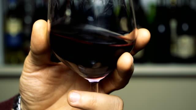 ワインのガラスを振動します。 - ワイン点の映像素材/bロール