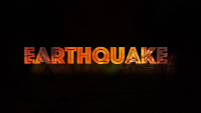 shaking earthquake warning sign fire burning environmental issue - tectonic stock videos & royalty-free footage