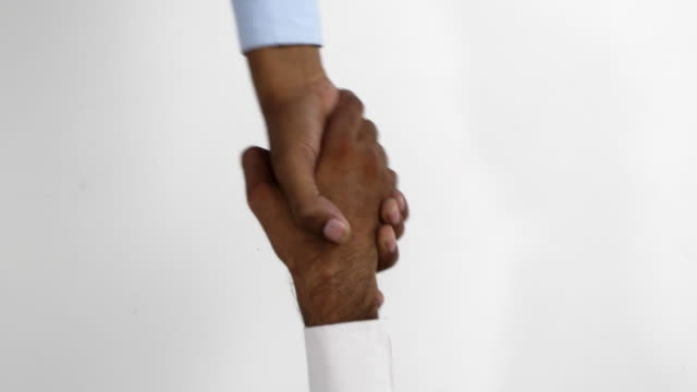 Shaking hands and other hand gestures between two people