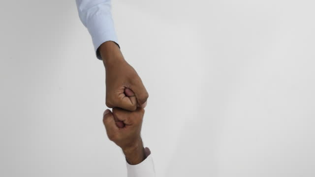 shaking hands and other hand gestures between two people - high five stock videos & royalty-free footage
