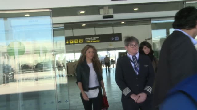 shakira arrive at barcelona - shakira stock videos and b-roll footage