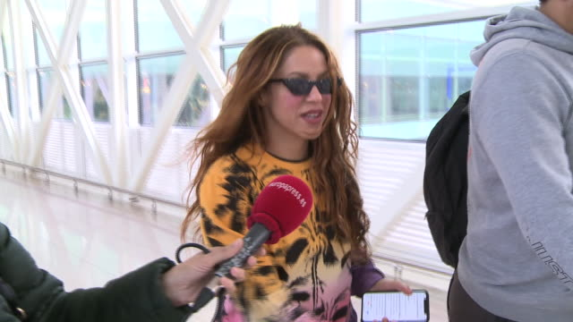 shakira arrives barcelona after her performance in the super bowl 2020 - shakira stock videos & royalty-free footage