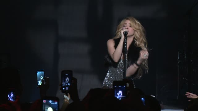 performance shakira at target presents the iheartradio album release party for shakira's exclusive deluxe edition in los angeles ca on march 24 2014 - shakira stock videos & royalty-free footage