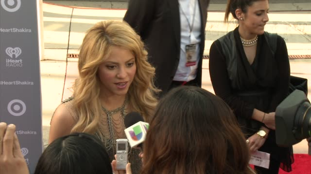 shakira at target presents the iheartradio album release party for shakira's exclusive deluxe edition in los angeles, ca on march 24, 2014. - exklusiv stock-videos und b-roll-filmmaterial