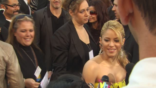 shakira at the 2009 american music awards arrivals at los angeles ca - shakira stock videos and b-roll footage