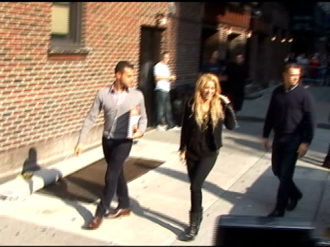 shakira at the late show with david letterman at the celebrity sightings in new york at new york ny - shakira stock videos and b-roll footage