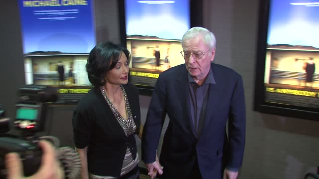 shakira baksh and michael caine at the 'is anybody there' new york premiere at new york ny - shakira caine stock videos and b-roll footage