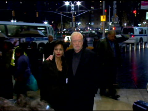 shakira caine and michael caine at the new york premiere of 'the weather man' at frederick p rose hall in new york new york on october 24 2005 - shakira caine stock videos and b-roll footage