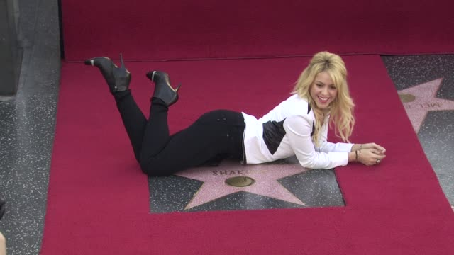 Shakira Honored With Star On The Hollywood Walk Of Fame Hollywood CA United States 11/08/11