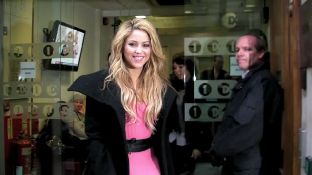 shakira leaving radio one bbc at the celebrity sightings in london at london england - shakira stock videos and b-roll footage
