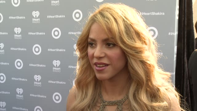 interview shakira on celebrating the release why she's excited to partner with target picking the bonus tracks for the target edition and her tour... - shakira stock videos & royalty-free footage