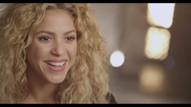 interview shakira talks about bringing the world together at tmobile launches unlimited global data at special event featuring shakira in nyc's... - shakira stock videos & royalty-free footage