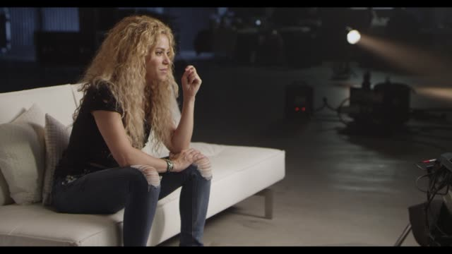INTERVIEW Shakira talks about Team Blake at TMobile Launches Unlimited Global Data at Special Event Featuring Shakira in NYC's Bryant Park at Bryant...