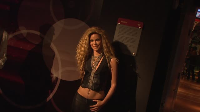 shakira wax figurine at madame tussauds new york celebrates arrival of gwen stefani wax figure on in new york ny - shakira stock videos and b-roll footage