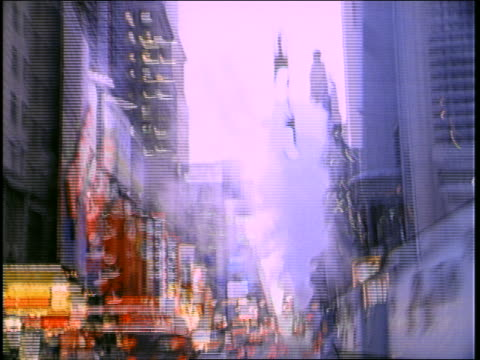 Shaky car point of view down 7th Avenue toward Times Square / NYC