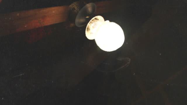 shaky grunge lightbulb flickering. hd - loft stock videos and b-roll footage