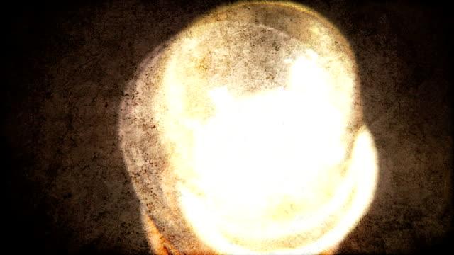 Shaky grunge lightbulb flickering. HD