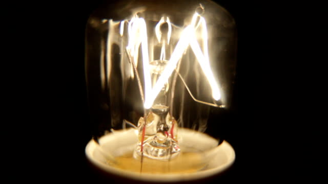 shaky grunge lightbulb flickering. hd1080, ntsc, pal - light bulb stock videos and b-roll footage