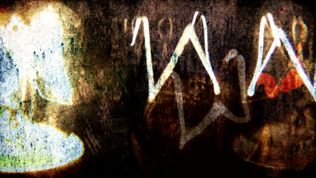 Shaky grunge lightbulbs flickering. HD
