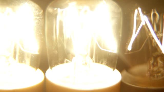 Shaky grunge lightbulbs flickering. HD1080, NTSC, PAL