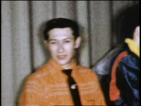 1955 shaky medium shot elvis presley backstage with scotty moore and other musicians / texas - fame stock videos & royalty-free footage