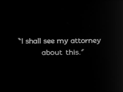 """vidéos et rushes de b/w 1924 slate: """"i shall see my attorney about this"""" / feature - 1924"""