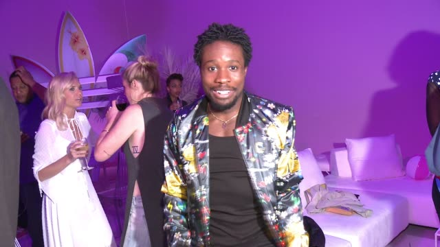 newest dfc76 41651 Shameik Moore at adidas Originals  PHARRELL WILLIAMS Pink Beach... Stock  Footage Video  Getty Images