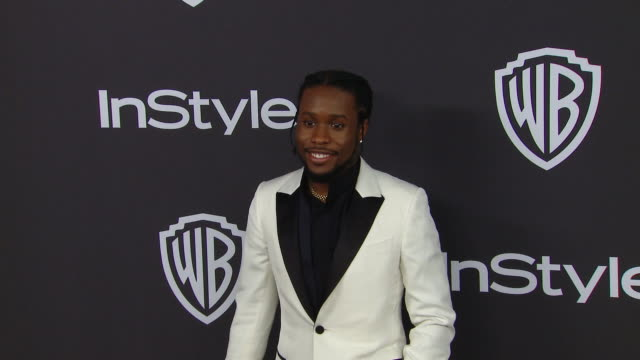 shameik moore at the warner bros and instyle host 20th annual postgolden globes party at the beverly hilton hotel on january 06 2019 in beverly hills... - the beverly hilton hotel stock-videos und b-roll-filmmaterial