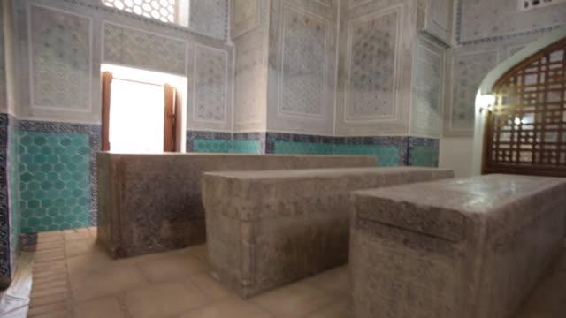 shamsiddin kulal mausoleum, dor-ut tilovat ensemble, shakhrisabz - religion stock videos & royalty-free footage