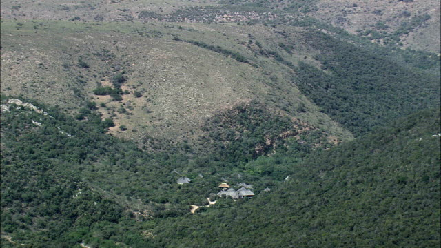shamwari reserve - aerial view - eastern cape,  cacadu district municipality,  sundays river valley,  south africa - wildlife reserve stock videos & royalty-free footage