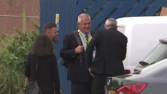 former police officer trevor godfrey found guilty of misconduct; england: sussex: sackville house: ext various shots of pc trevor godfrey arriving at... - shirt and tie stock videos & royalty-free footage