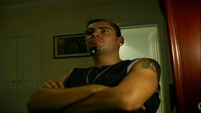 stockvideo's en b-roll-footage met shane lynch interview as it featured in the men motors show shane's world - jongensband