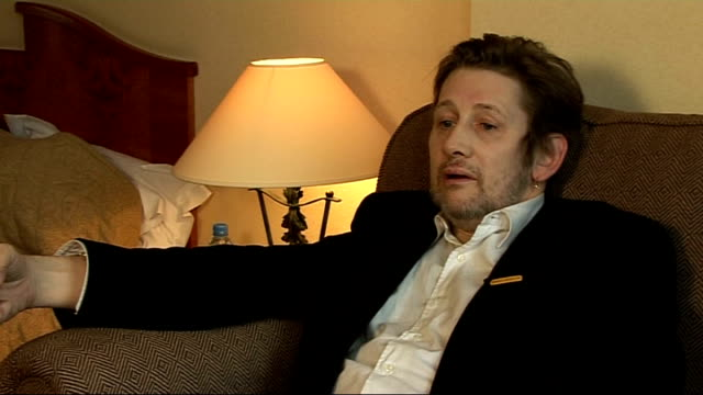 shane macgowan interview and general views; shane mcgowan interview sot - on bleeping lyrics / it's quite a good thing to do from the point of view... - ronan keating stock videos & royalty-free footage