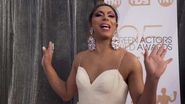 shangela at the 25th annual screen actors guild awards social ready content at the shrine auditorium on january 27 2019 in los angeles california - screen actors guild awards stock videos & royalty-free footage