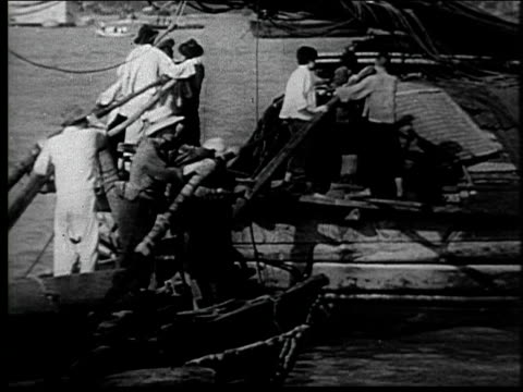 shanghai and its harbor - dockarbeiter stock-videos und b-roll-filmmaterial