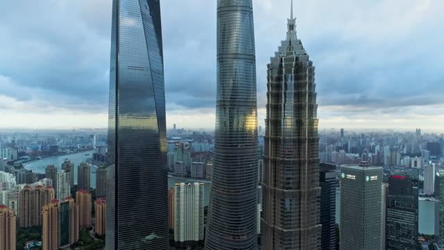 shanghai at dusk - lujiazui stock videos & royalty-free footage