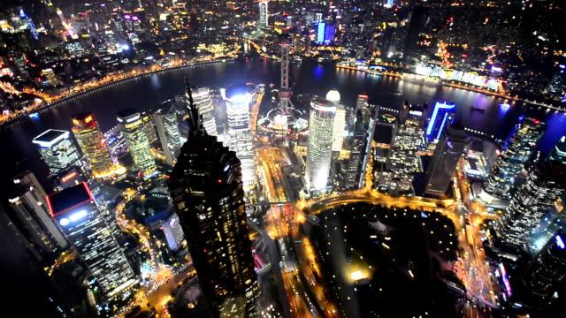 vídeos de stock, filmes e b-roll de shanghai à noite, lapso de tempo - east berlin
