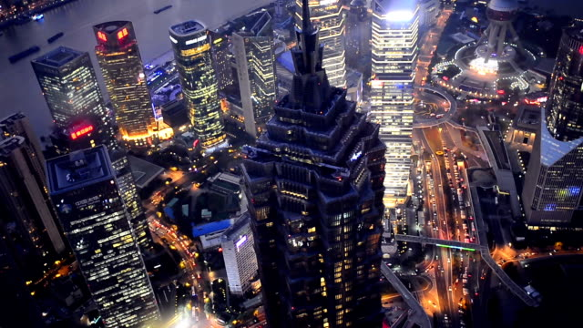 Shanghai at Night, Time Lapse