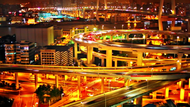 shanghai-brücke - geschäftsreise stock-videos und b-roll-filmmaterial