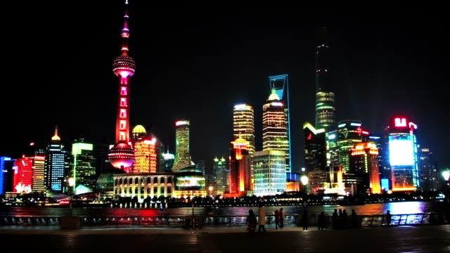 shanghai business district - besichtigung stock-videos und b-roll-filmmaterial