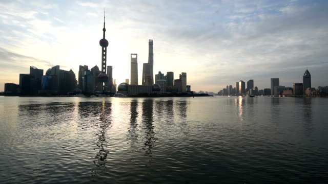 shanghai city in the morning - the bund stock videos & royalty-free footage