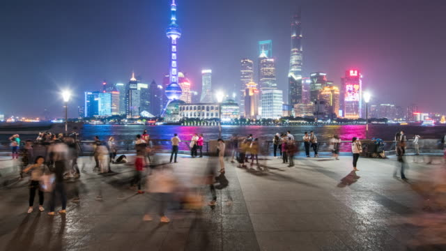 shanghai city night scenery 4k timelapse,2016 - shanghai world financial center stock videos & royalty-free footage