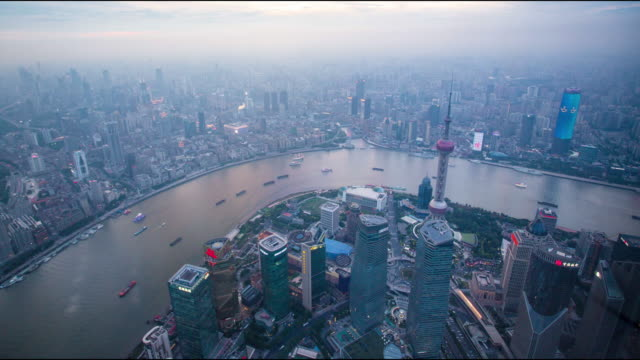 shanghai city skyline  view - china east asia stock videos & royalty-free footage